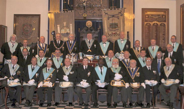 Members of the St. John's Thanet Lodge 2753